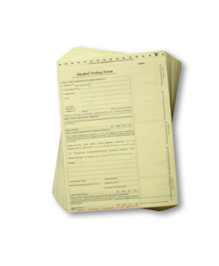 Alcohol Breath Test Forms